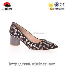 2015 hot sale low price middle high heel dress shoe comfortable women shoe manufacturer