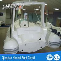 5.8m 1.2mm pvc inflatable fiberglass hull sailing boat