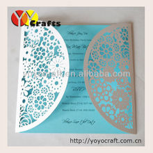 2015 chinese laser cut fashionable pure white wedding invitation cards