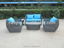2015 Fashionable style sofa set with blue pillow made in China