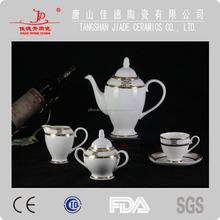 wholesale fine bone china dinnerware set with golden design made in china
