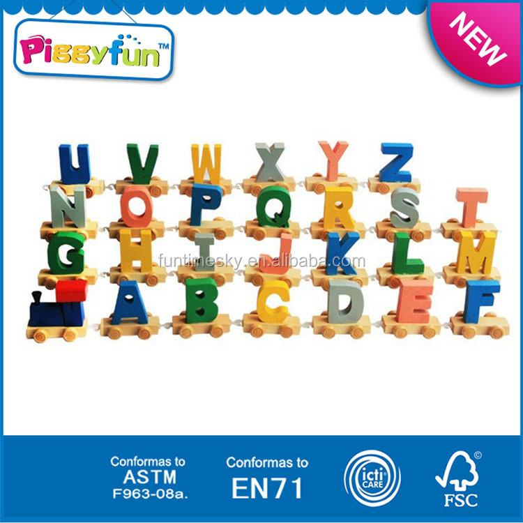 Wooden Letter Train,High Quality Wooden Alphabet Train,Kids Toy Wooden ...
