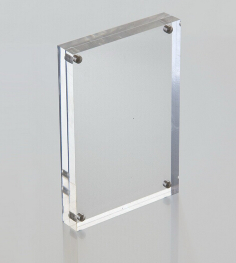 High quality clear square 4 sided acrylic magnetic photo frame wholesales