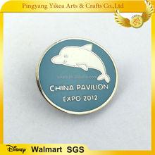 Dolphin hard enamel badges &2012 EXPO china pavilion badge