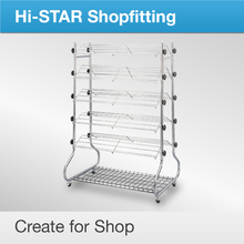 wholesale double-side shoes shop metal display/retail slipper metal wire shoe rack/metal wire display for shoes