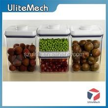 Transparent plastic food grade snacks container