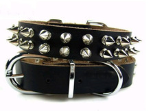 Genuine Leather Spike Dog Collar size L Mastiff Cane Corso Rottweiler