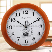 Luxury Wood Wall Clock with Customed Clock Dial