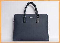 Mens work Laptop Genuine Leather Briefcase Handbag