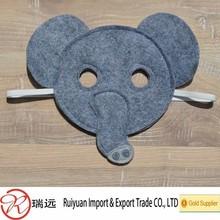 2015 fashion half face custom party cute elephant felt mask for promotional gift
