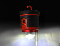 2015 solar portable camping lantern with red and white light
