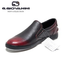 Black-Red brush leather cool design leather used shoes