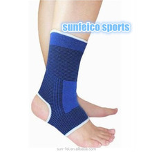 MOQ:10pcs!!!~Hot Quality~Outdoor Sports Protection Ankle Supports~Ankle Sleeve Safety Stretchy ~Black With Blue Trim