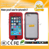 4.7 Inch Red Cellphone Waterproof Case for iPhone 6 Case With Home Button