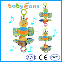 2015 New Hanging Crib Baby Toys Musical Hand bell Bee Plush Toy