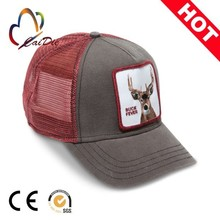 wholesale design your own trucker cap with mesh fabric at back velcro patch on front city flags