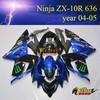 Hot sale Aftermarket Racing Fairing Body Kits Cover for kawasaki ninja ZX10R 636 2004 2005