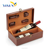 High Quality Pu leather Cardboard Wine Carriers