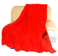 CX-D-87 High Fashion Colorful Hand Knitted Rabbit Fur Throw