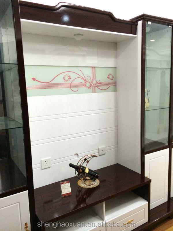 shx esquina moderno mueble tv con vitrina tv lcd gabinete de madera diseos