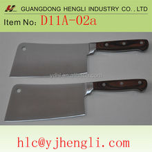 stainless steel kitchen cleaver knife