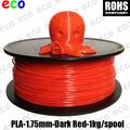 De alta calidad de color rojo 1.75mm pla de la barra de plástico para 3d de la impresora