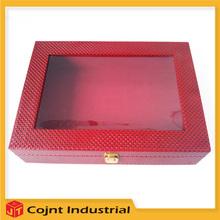 new style made in china decorative tea pvc leather box far good design