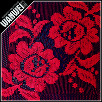6 Discount Hot Sales High Quality New arrival beautiful leaf red and black color women sequin guipure lace fabric 7039