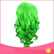 Barbara over 16 years manufacture experience hot sale top quality cosplay short green wig, cheap cosplay wigs