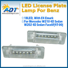 E-MAKR Waterpoof w202,W210 license plate LED light