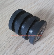 Customize three groose rubber small roller wheel with bearing