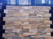 Wooden Yellow Culture Slate Wall Slate,Wall Cladding Slate Tile