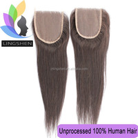 Hot sell no tangle no shed peruvian mesh hair closure