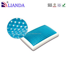 Standard size gel memory foam pillow/Best quality hot sell silicone gel pillow