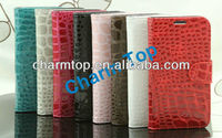 Crocodile Leather Stand Cover For Samsung Galaxy S4 i9500