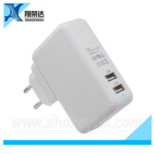 Sharey TC-020-5 wall charger dual port eu micro usb wall charger for ipad