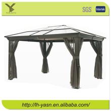 2015 high quality Aluminum Outdoor Garden Gazebo cover with solar panel