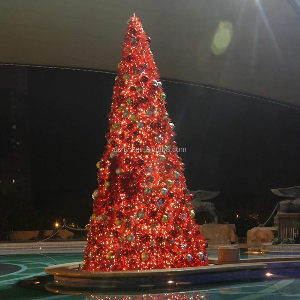 2015 giant sequin outdoor led christmas tree for shopping Large decorated christmas trees