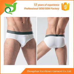 New items polyester elastic waistband men's white briefs