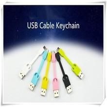 2015 nuevos productos micro usb cable de la fecha llavero