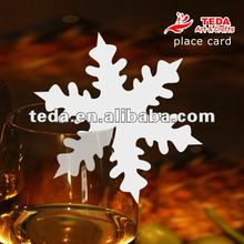 PD-015SNOWFLAKES chrismas wine Glass place cards