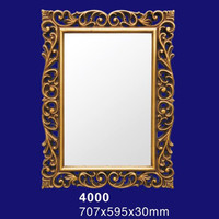 Waterproof Polyurethane / PU Material Mirror Frame For Wall / Bathroom Decoration