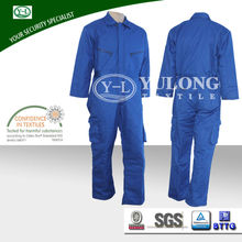 New Style Work Men EN11611 proban material duck insulated bib coverall used oil station flame retardant garment