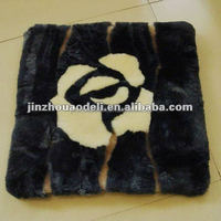sheepskin patchwork seat cushion by real fur