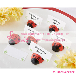 """""""Cute as a Bug"""" Ladybug Place Card Holder For Wedding Party Decorations"""