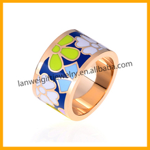 Professional Wholesale Fancy Popular Colorful Enamel Ring Jewelry