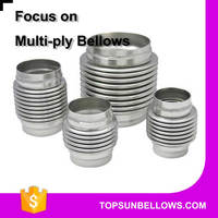 304 stainless steel multi-ply exhaust system metal bellows expansion joints