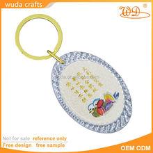 customized colorful animal acylic gold foil keyring