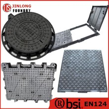 en124 cast iron electrical manhole cover with gasket factory sale