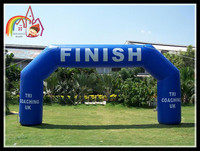 Large Inflatable Green Finish Arch Portable Start Archway Racing Competition Arch